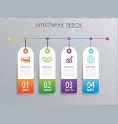 infographics tag banner 4 option template vector image vector image
