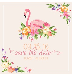 Invitation Card Set - Flamingo Theme vector