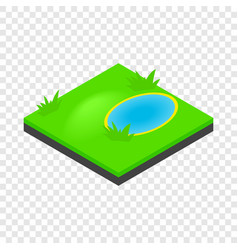Lake landscape isometric icon vector
