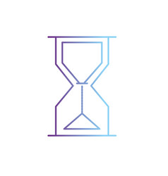line hourglass object design to know the time vector image