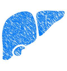 Liver grunge icon vector