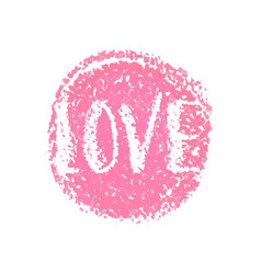 love word hand lettering for valentines day vector image