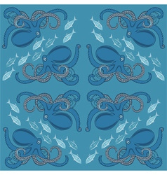 octopus sim vector image