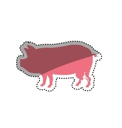 Pork silhouette meal vector image