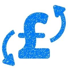 Pound Transfers Grainy Texture Icon vector