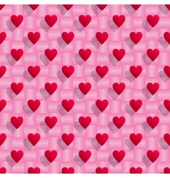 Red hearts seamless valentine background vector image