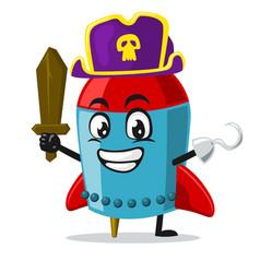 Rocket character or mascot vector
