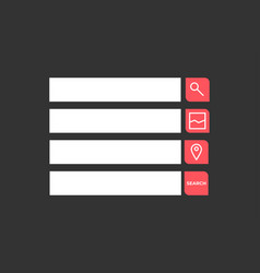 set search bars flat web design elements vector image