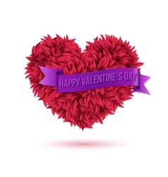 Simple Happy Valentines Day Concept vector