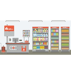 Supermarket interior vector