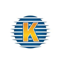 Technology letter k vector