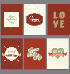 template valentine greeting card and invitation vector image