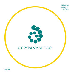 The logo is a spiral a spiral chain of circles vector