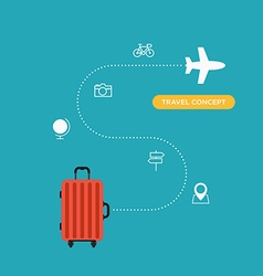 travel concept flat design business trip holiday vector image