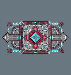 Tribal art bandana print ethnic geometric print vector