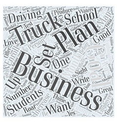Truck driving school business plan Word Cloud vector