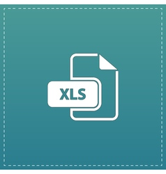 XLS extension text file type icon vector