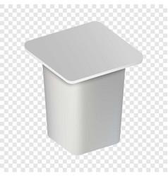 Yogurt closed box mockup realistic style vector