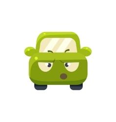 Arguing Green Car Emoji vector image