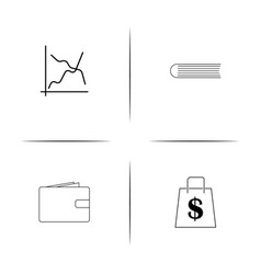 Banking finance and money simple linear icon vector