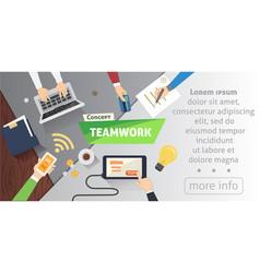 business people team scene teamwork in modern vector image