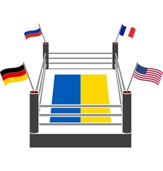 fight ring of ukraine vector image vector image
