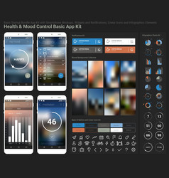 Flat design responsive UI mobile app and website vector image vector image