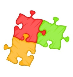 Puzzle piece icon cartoon style vector image