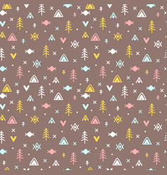 tribal seamless pattern with doodle design vector image vector image