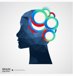 creative concept of the human head vector image