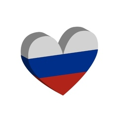 hart Russian flag vector image vector image