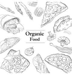 Healthy and Hearty Breakfast Organic restaurant vector image