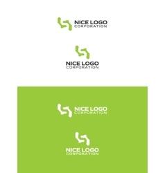 simple green logo vector image