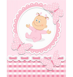 Smiling baby girl vector image vector image