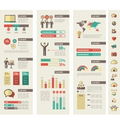 Social Media Infographic Template vector image