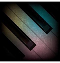 abstract grunge dark music background with piano vector image vector image