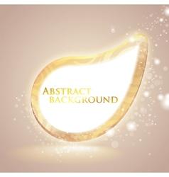 abstract shiny speech bubble vector image