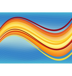 Blue and orange waves package background vector image vector image