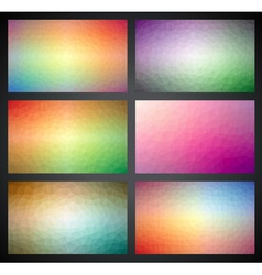 geometric triangles background collection vector image vector image