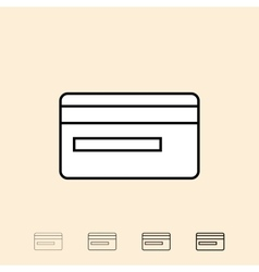 icon of credit card vector image vector image