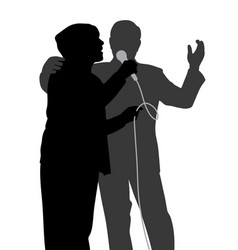 senior singing duet vector image