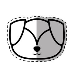 face puppy adorable pedigree dot line shadow vector image vector image