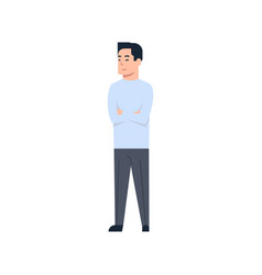 young asian man chinese or japanese male wearing vector image