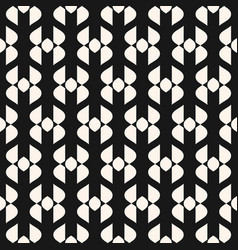 abstract geometric seamless pattern elegant black vector image