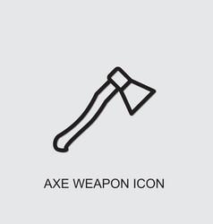 Axe weapon icon vector
