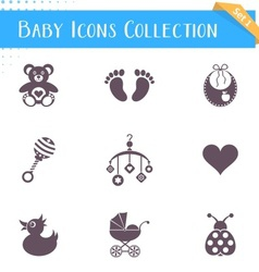 Baby icons collection vector