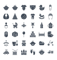 Baby solid web icons vector