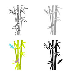 Bamboo icon in cartoon style isolated on white vector