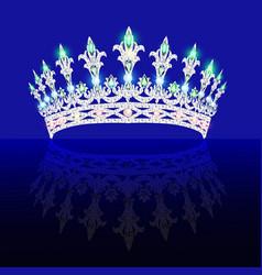 Beautiful crown tiara tiara with gems vector