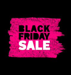 black friday sale banner pink color background vector image